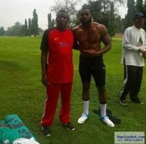 Photo: Femi Keshi, Son Of Stephen Keshi Pictured With His Father